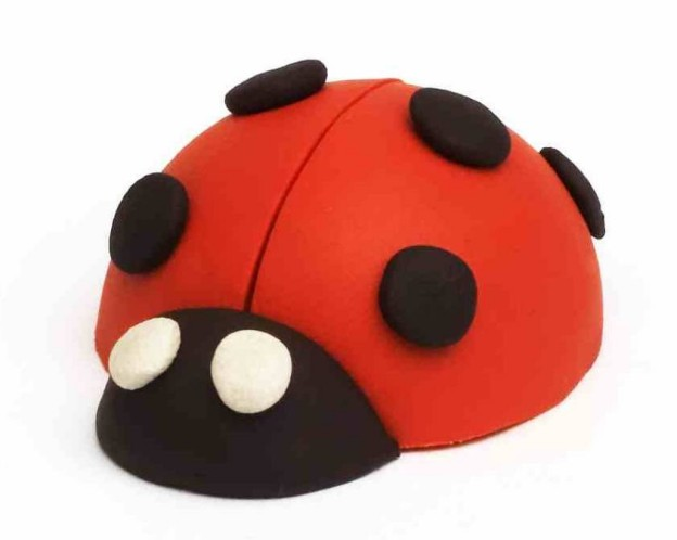 Modelling clay ladybird